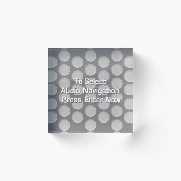 UNSKIPPABLE Acrylic Block