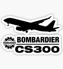Bombardier CS300 - Silhouette (Black) Sticker