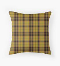 Mac Leod Clan   Yellow Black    Scottish Tartan Throw Pillow