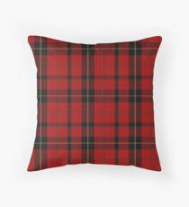 Red, black and yellow   Clan   Scottish tartan  Throw Pillow