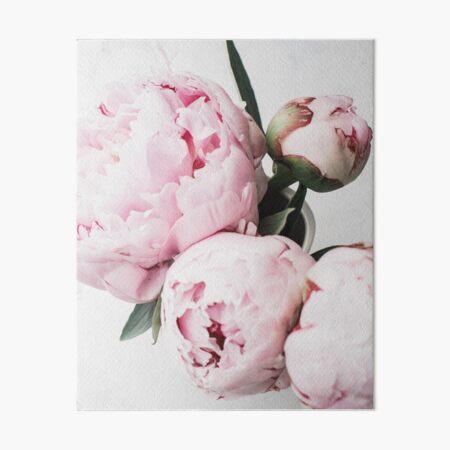 Flowers print, Scandinavian, Peony, Fashion print, Scandinavian art, Modern art, Wall art, Print, Minimalistic, Modern Art Board Print