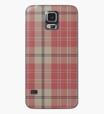 Pink and White | Scottish Clan Tartan  Case/Skin for Samsung Galaxy