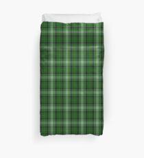 Grün und Weiß | Schottischer Tartan Bettbezug