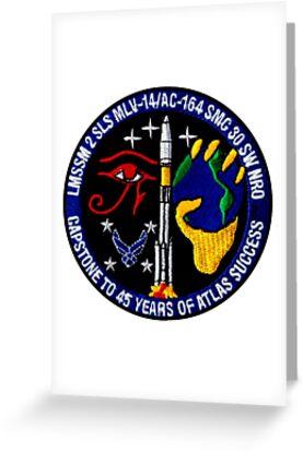 NROL-18 MISSION STICKER ~ Naval Recon Libra Atlas Rocket Launch Team Logo