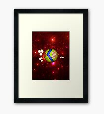 Low Poly World Framed Print