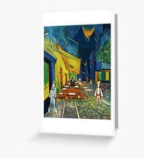 Goodsoup terrace at night Greeting Card