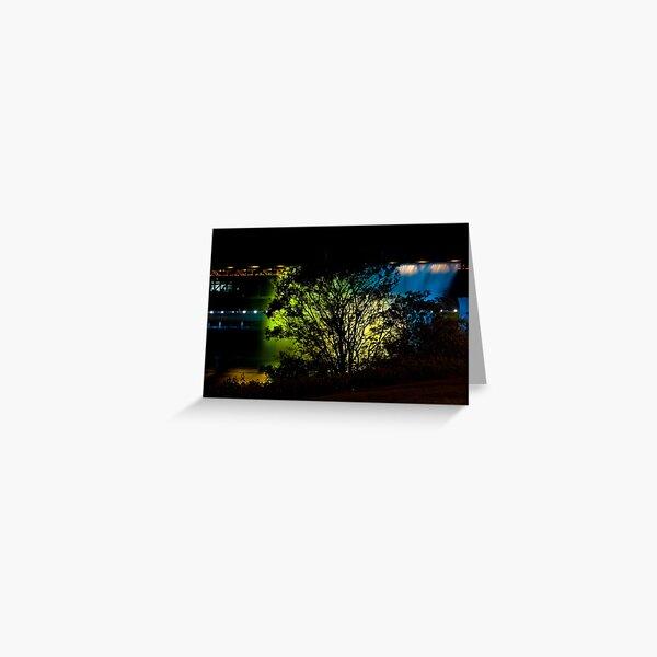 Golden Backdrop Greeting Card