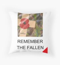 Remember The Fallen - Of WW1, WW2 and all other conflicts Throw Pillow