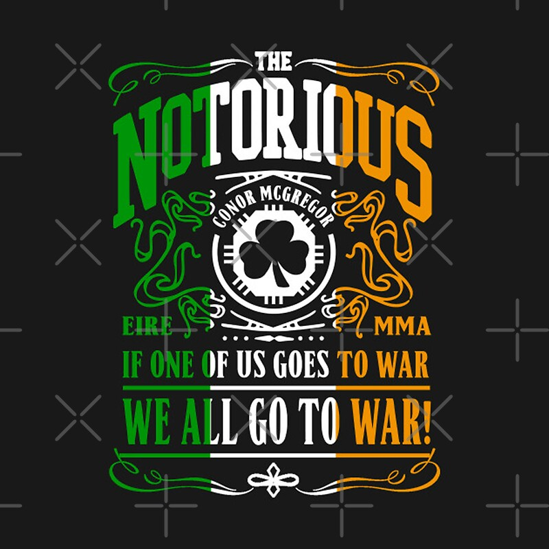 Conor mcgregor design stickers by markmcg777 redbubble for Mcgregor tattoo shirt