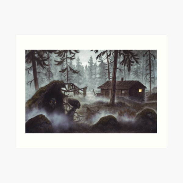 Forest vättar Art Print