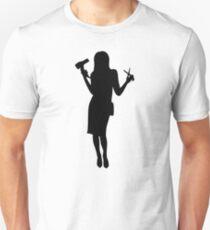 Hairdresser woman girl Unisex T-Shirt