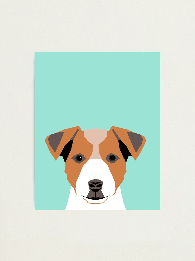 Jack Russell Terrier Puppy Dog Wall Picture Art Print