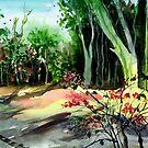 Light in the woods by Anil Nene