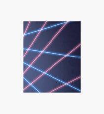 90s Laser Beam Picture Day Background, Retro, Oldschool Art Board Print