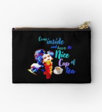 Mary Poppins Quote Zipped Pencil Case Bow Charm Stationery Genuine Disney