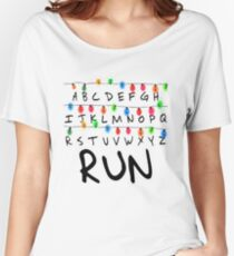 Ligths Run - Stranger Things Women's Relaxed Fit T-Shirt