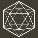 Clear icosahedron (dark background) by hexagrahamaton