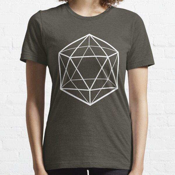 Clear icosahedron (dark background) Essential T-Shirt