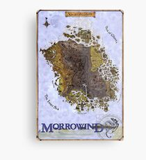 Morrowind Map Vvardenfell Poster, Restoration of Old Print Metal Print