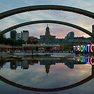 Just Before Sunset in Nathan Phillips Square by Gerda Grice