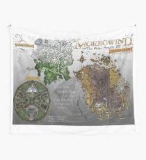 Morrowind, Elder Scrolls, 3 Islands Map, Poster Restoration Wall Tapestry