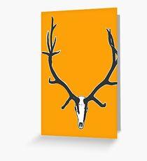 Monster bull elk skull Greeting Card