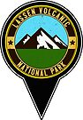 Lassen Volcanic National Park Map Pointer Marker California by MyHandmadeSigns