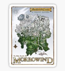 Solstheim a Morrowind Island Map, Restoration Project  Sticker