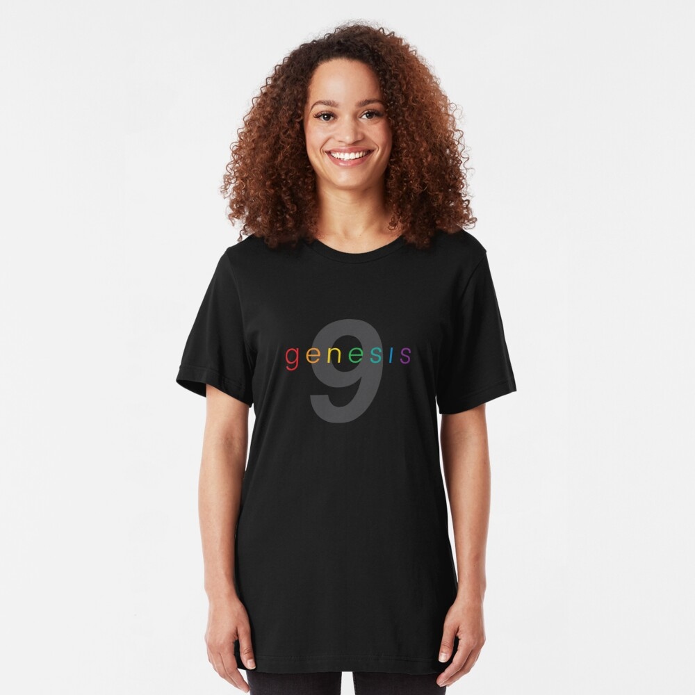 Genesis 9 Rainbow God's Covenant With Noah Slim Fit T-Shirt