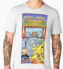 Mortal Kombat, Restored Vintage Nintendo Power Poster Men's Premium T-Shirt