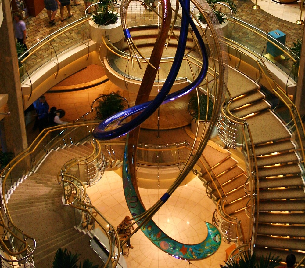 Shipboard Staircase by abryant