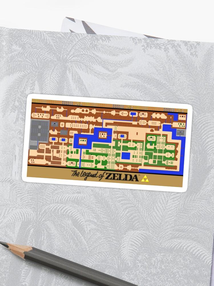 Die Legende Von Zelda Map Poster Retro Nes Beliebte Restaurierung Sticker