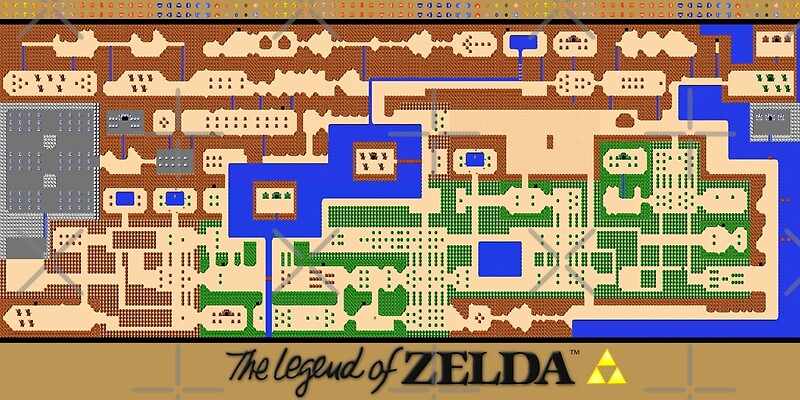 Legend of zelda map poster retro nes popular restoration legend of zelda map poster retro nes popular restoration by 7hunters gumiabroncs Images