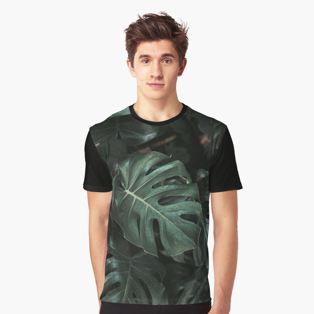 Monstera Deliciosa Blätter Grafik T-Shirt