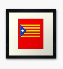 CATALONIA INDEPENDENCE FLAG Framed Print