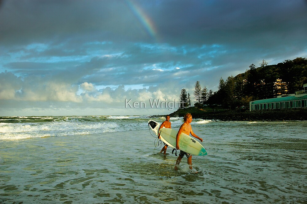 Rainbow Surfers by Ken Wright
