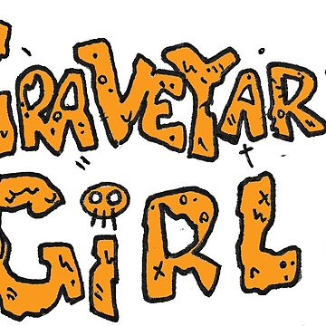 Graveyard Girl Title Print (Orange) by reillybranson