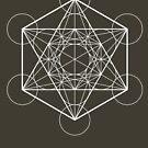 Metatron's Cube (dark background) by hexagrahamaton