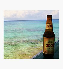 Beer and Beach Photographic Print