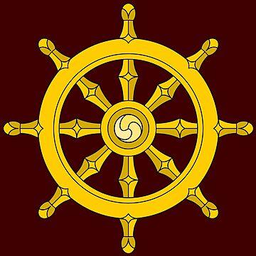 Dharma Wheel by symbols