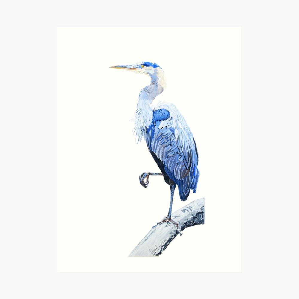 Heron No.5 Art Print
