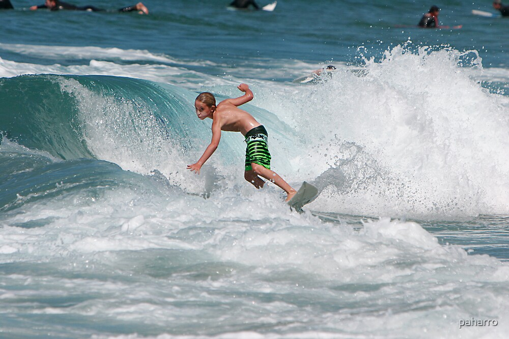 Serious young surfer! by Peter Harrison