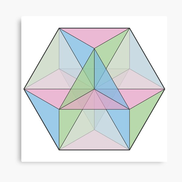 Cuboctahedron of Intersecting Hexagonal Planes Canvas Print