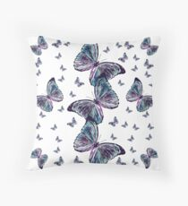 Waltz of the Butterflies | Magical Insects Throw Pillow
