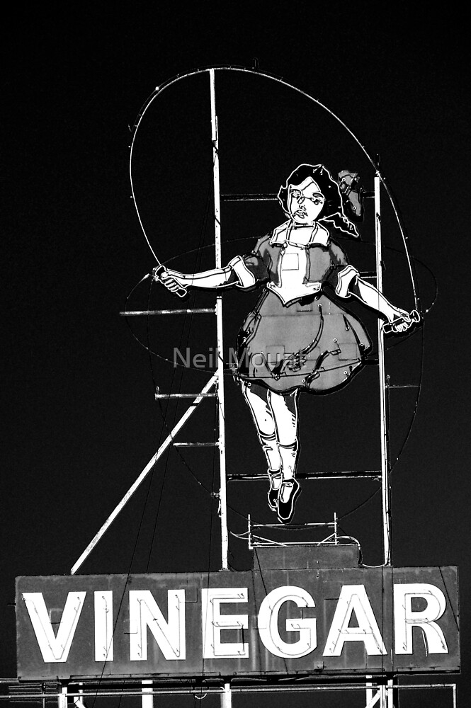 skipping girl in black by Neil Mouat