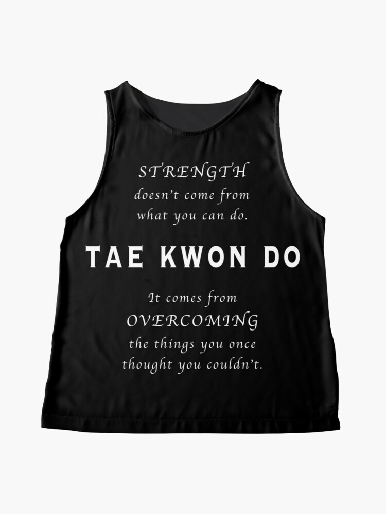 Vista alternativa de Blusa sin mangas Cita Inspirada de Tae Kwon Do