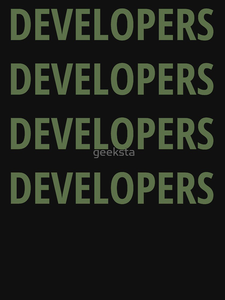 Funny Design for Software Developers - 4 Words Green Text by geeksta