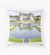 Le Château de la Roche Corbon Throw Pillow
