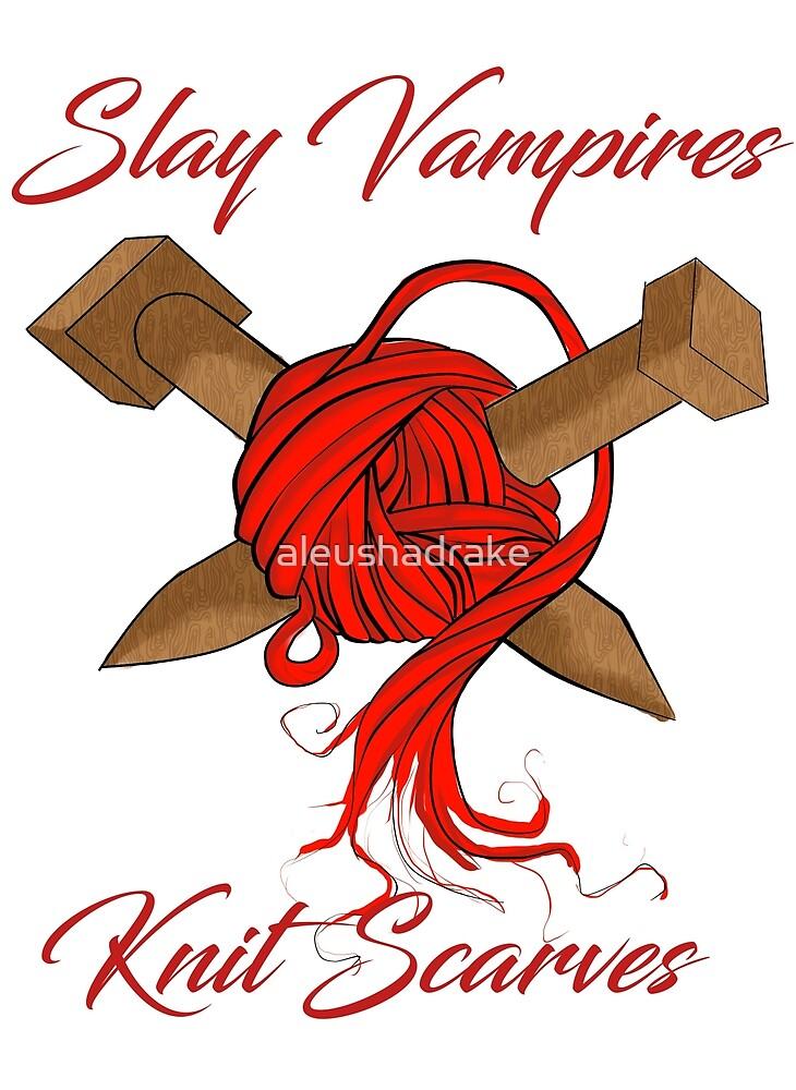 slay vampires knit scarves by aleushadrake