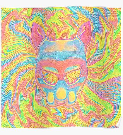 Abstract Mask Poster